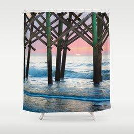 Sunrise Under Pier Shower Curtain
