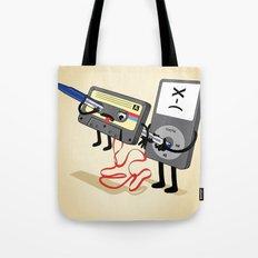Killer Ipod Clipart (Murder of Retro Cassette Tape) Tote Bag