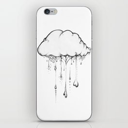 Happy Cloud Drawing, Cute Whimsical Illustration iPhone Skin