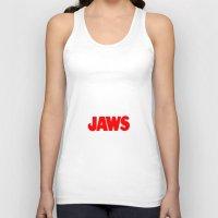 jaws Tank Tops featuring Jaws by IIIIHiveIIII