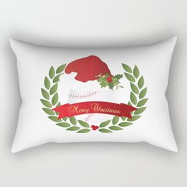 Christmas Baseball Rectangular Pillow