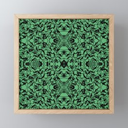 Abstract green and black 15 Framed Mini Art Print