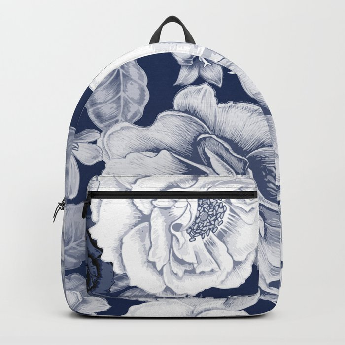 BLUE NATURE - FLOWERS Backpack