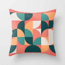Mid Century Geometric 19 Throw Pillow