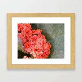 red on jade Framed Art Print