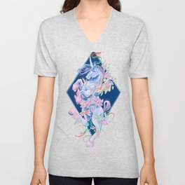 Crystal Snake Rainbow Unicorn Unisex V-Neck