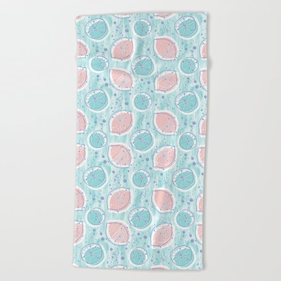 Atomic Blue Lemonade Beach Towel