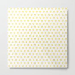 Boat SteeringWheels Yellow on White Metal Print