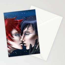 A Kiss in the Snow Stationery Cards