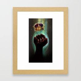 King`s iron fist Framed Art Print