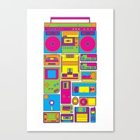 90s Canvas Prints featuring 90s by sknny