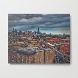 City by the Lake Metal Print