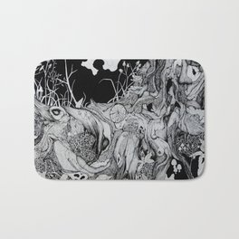 Tree Roots with Plants Bath Mat