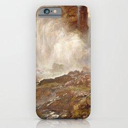 Yoho Falls by John Singer Sargent - Vintage Fine Art Oil Painting iPhone Case