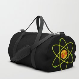 D20 atom, black background Duffle Bag