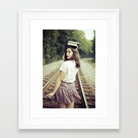 bookworm Framed Art Prints featuring Bookworm by Kelly Is Nice