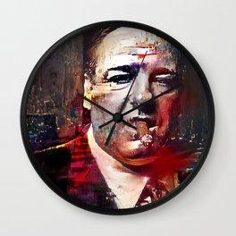 Tony Soprano Glitch Wall Clock