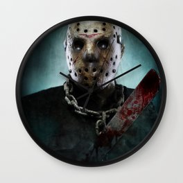 Jason Voorhees Wall Clock