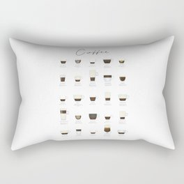 Coffee Types Rectangular Pillow