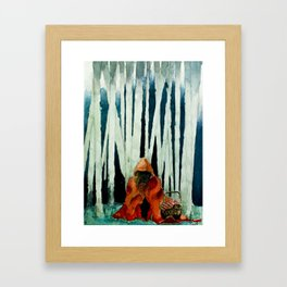 Little red. Framed Art Print