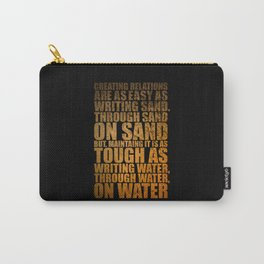 """Creating Relations are... """"Mrlyn Mnroe"""" Life Inspirational Quote Carry-All Pouch"""