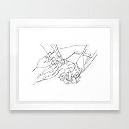 Caress & Crush Framed Art Print
