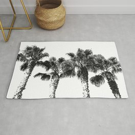 Tropical Palm Tree Photography {2 of 2} | Black and White Rug