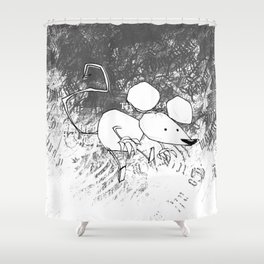 minima - deco mouse Shower Curtain