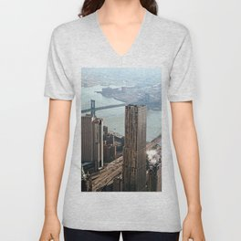 Vintage New City Unisex V-Neck
