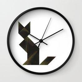 Tangram Black Cat Wall Clock