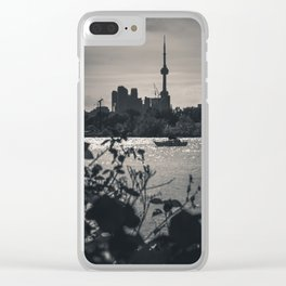 A View From The Water. Toronto CN Tower, Cityscape Photograph Clear iPhone Case