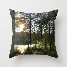 Portage through Algonquin Park, Ontario Throw Pillow