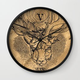 Fortune Favors The Bold Wall Clock