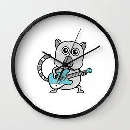 Unique & Funny Ringtail Cat Tshirt Design Guitar Wall Clock