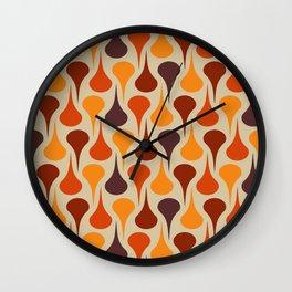Retro colored drops Wall Clock