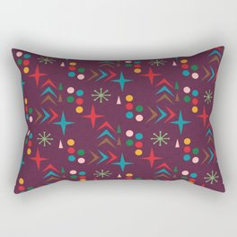 Atomic pattern purple mid century modern #homedecor Rectangular Pillow