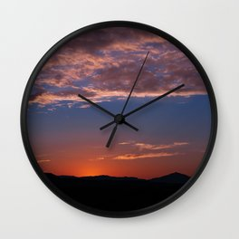 SW Summer Mt Sunrise - I Wall Clock