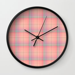 Buttons and Bows Plaid Wall Clock