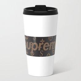 supreme brown Travel Mug