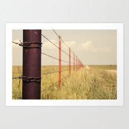 Fence Line Art Print