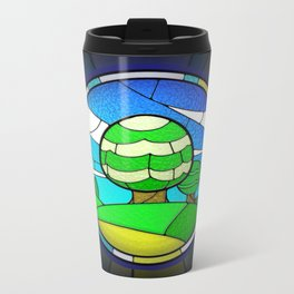 Stained Glass Metal Travel Mug