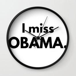I Miss Obama Wall Clock