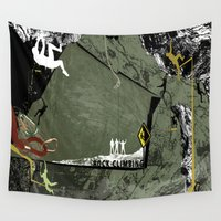 climbing Wall Tapestries featuring Rock Climbing by Robin Curtiss