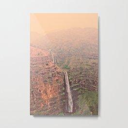 Canyon Waterfall Metal Print