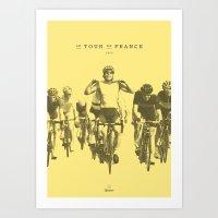 tour de france Art Prints featuring Tour de France by Espresso Cycling