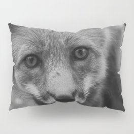 The Fox (Black and White) Pillow Sham