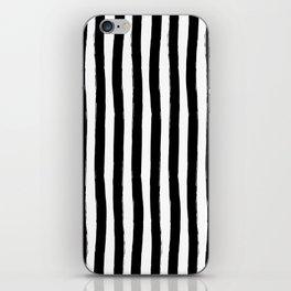Black and White Cabana Stripes Palm Beach Preppy iPhone Skin