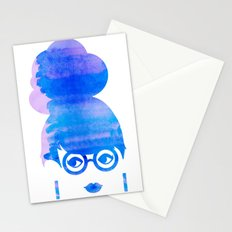 Curious Blue Stationery Cards