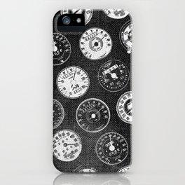 Dark Vintage Motorcycle Speedometers iPhone Case