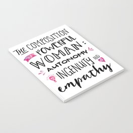 The Composition of Powerful Women Notebook